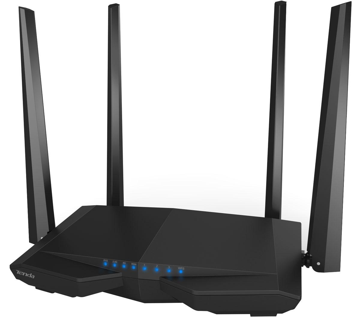 Tenda AC6 беспроводной маршрутизатор463488Tenda AC6 – мощный маршрутизатор для быстрой Wi-Fi сети. Он принадлежит к 5-му поколению Wi–Fi устройств. Процессор Broadcom обеспечивает быструю и стабильную работу двух диапазонах на максимальной скорости до 1167 Мбит/с.Четыре антенны 5дБ, независимые усилители сигнала и технология Beamforming+ позволяют сигналу преодолевать стены вдвое эффективнее. Это означает, что можно наслаждаться играми и непрерывным просмотром видео в любое время и где угодно. Функция умного планирования доступа в Интернет, снижая потребление электроэнергии и обеспечивая умное использование Интернет.Роутер AC6 – представитель нового поколения Wi–Fi. Он обеспечивает в три раз большую пропускную способность, чем обычный роутер N-стандарта: 300 Mбит/с в диапазоне 2.4 ГГц + 867Mбит/с на 5 ГГц= общая скорость до 1167Mбит/с. Tenda AC6 – превосходный выбор для просмотра ТВ передач высокой чёткости, on-line игр и других ресурсоемких задач.Оснащенный чипом Broadcom 900 МГц, AC6 становится центром продвинутой Wi-Fi сети, гарантируя полную совместимость и стабильную работу подключенного оборудования. Просто наслаждайтесь Интернет в любое время и в любом месте.Роутер AC6 оснащен четырьмя антеннами с коэффициентом усиления 5 дБ, которые используют передовую технологию приема-передачи сигнала. Их мощный сигнал обеспечивает охват каждого уголка в доме.Просто укажите время, и AC6 выключит и включит Wi-Fi когда нужно. Это снизит потребление электроэнергии и улучшит экологию в доме в целом.Простой интерфейс позволяет настроить и получить доступ в Интернет в течение 30 секунд даже неподготовленному пользователю. Настойки AC6 просты и интуитивно понятны.