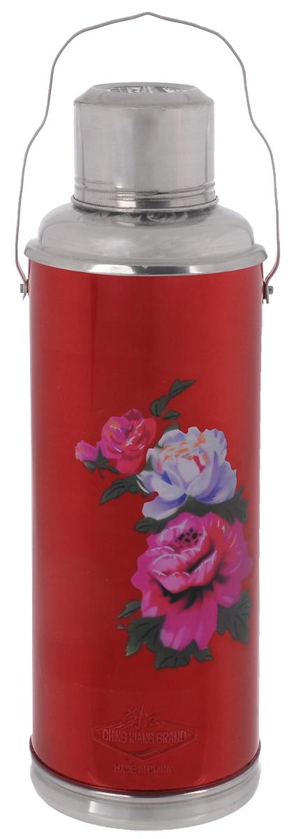 Термос Super Kristal, цвет: красный, фиолетовый, 2 л
