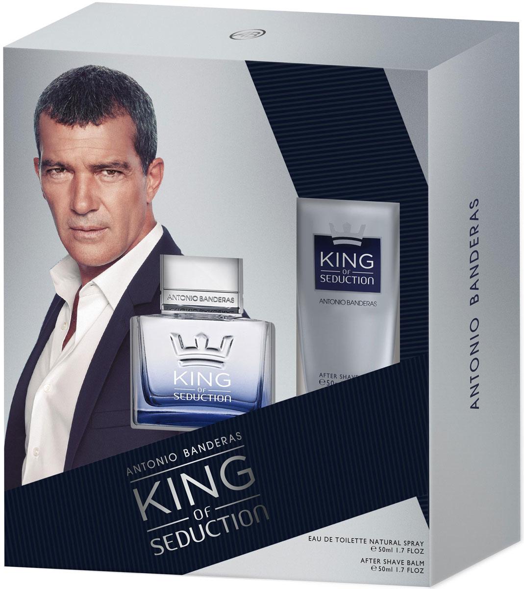 candino seduction c4436 2 Antonio Banderas Парфюмерный набор King Of Seduction: туалетная вода, бальзам после бритья, 2 х 50 мл