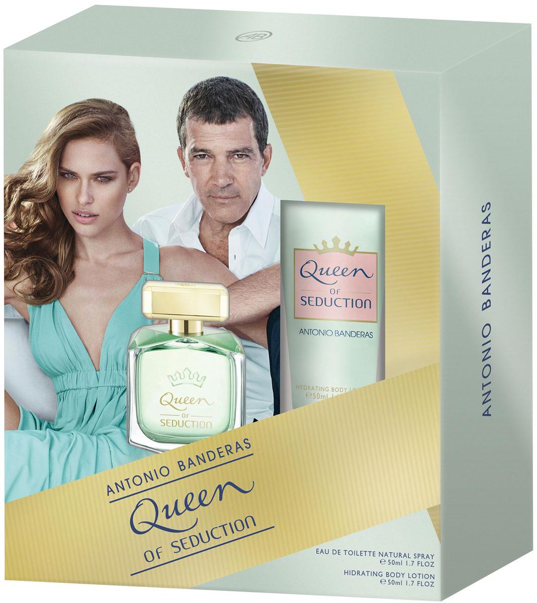 Antonio Banderas Парфюмерный набор Queen Of Seduction: туалетная вода, лосьон для тела, 2 х 50 мл набор queen of seduction туалетная вода 50 мл лосьон для тела 50 мл antonio banderas