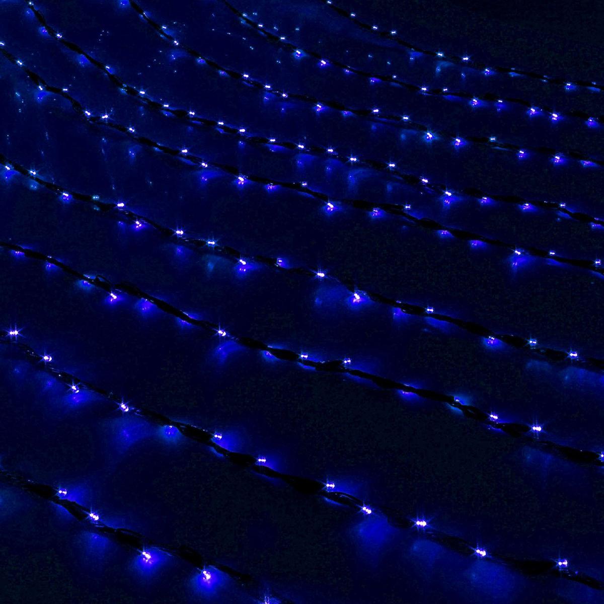 Гирлянда светодиодная Luazon Дождь, уличная, 8 режимов, 1500 ламп, 220 V, цвет: синий, 2 х 6 м. 706350706350Светодиодные гирлянды, ленты и т.д — это отличный вариант для новогоднего оформления интерьера или фасада. С их помощью помещение любого размера можно превратить в праздничный зал, а внешние элементы зданий, украшенные ими, мгновенно станут напоминать очертания сказочного дворца. Такие украшения создают ауру предвкушения чуда. Деревья, фасады, витрины, окна и арки будто специально созданы, чтобы вы украсили их светящимися нитями.