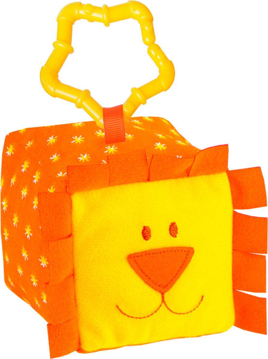 Мякиши Развивающая игрушка Кубик ЗооМякиши Львенок игрушка погремушка мякиши медвежонок колечко