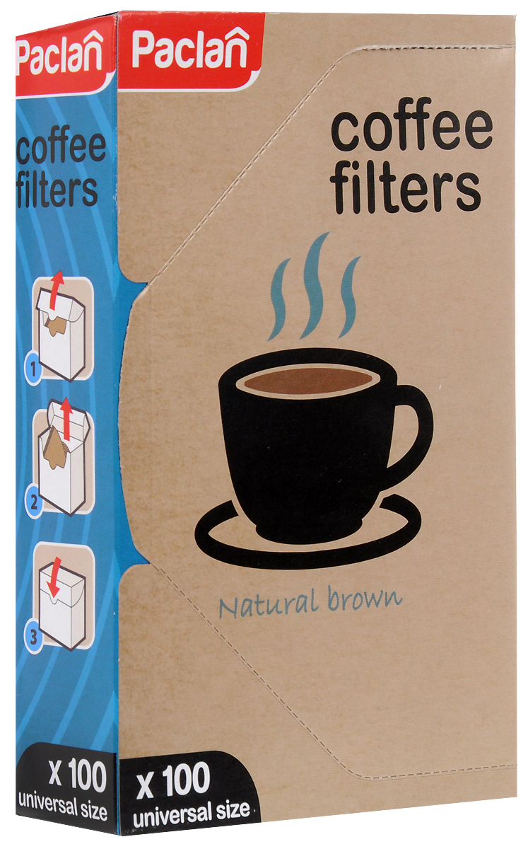 Zakazat.ru: Набор фильтров для кофе Paclan, небеленые, размер 4, 100 шт