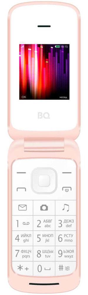 BQ 1810 Pixel, White85953226Компактный телефон BQ 1810 Pixel в удобном форм-факторе раскладушка обладает набором всех необходимых для современного пользователя функций. С помощью встроенного FM-радио вы сможете слушать любимые радиостанции во время прогулок или поездок. Модуль Bluetooth поможет передать необходимые файлы максимально быстро. Используйте камеручтобы сфотографировать документы или важную информацию. Вы можете увеличить память телефона до 8 Гб с помощью карты памяти MicroSD.Телефон сертифицирован EAC и имеет русифицированную клавиатуру, меню и Руководство пользователя.