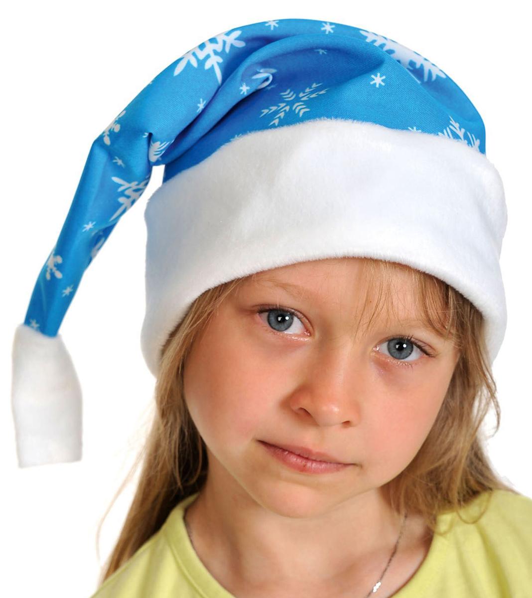 Колпак новогодний, цвет: синий. Размер 53-55 см. 25128262512826Невозможно представить нашу жизнь без праздников! Мы всегда ждем их и предвкушаем, обдумываем, как проведем памятный день, тщательно выбираем подарки и аксессуары, ведь именно они создают и поддерживают торжественный настрой. Новогодние аксессуары — это отличный выбор, который привнесет атмосферу праздника в ваш дом!