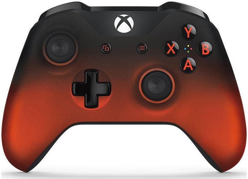 Xbox One Volcano Shadow Special Edition беспроводной геймпадWL3-00069Ощутите полноту удобства нового эргономичного беспроводного геймпада Xbox One Volcano Shadow Special Edition, выполненного в ярком стиле огненно-красный металлик. Геймпад оснащен рельефными рукоятками.Импульсные триггеры обеспечивают вибрационную обратную связь, так что вы почувствуете малейшую тряску и столкновения с высочайшей точностью. Отзывчивые мини-джойстики и усовершенствованная крестовина повышают точность. А к 3,5 - мм стереогнезду можно напрямую подключить любую совместимую гарнитуру.Почувствуйте игру благодаря импульсным триггерам. Вибрационные электродвигатели в триггерах обеспечивают прецизионную обратную связь, передавая отдачу оружия, столкновения и тряску для достижения невиданного реализма в играх!Теперь геймпад оснащен 3,5-мм стереогнездом, к которому можно напрямую подключить любимую игровую гарнитуру.Поддерживается беспроводное обновление прошивки, благодаря чему для обновления не требуется подключать геймпад с помощью кабеля USB.ТочностьКрестовина отлично реагирует как на касания, так и на нажатия навигационных кнопокМини-джойстики удобнее в использовании и точнее работаютТриггеры и бамперы ускоряют доступ к командамКомфортРазмер и контуры геймпада комфортны для рук любого игрокаБатареи скрыты в корпусе, благодаря чему геймпад удобнее лежит в рукеДругие особенностиКомплект поставки: беспроводной геймпад и 2 батареи типоразмера AAРадиус действия до 6 мК консоли можно одновременно подключить до 8 беспроводных геймпадовКнопки Меню и Просмотр облегчают навигациюПростая привязка профилей к геймпадуК новому встроенному стереогнезду для гарнитуры можно подключить дополнительные устройства, например гарнитуру для чатаГеймпад совместим с зарядным устройством для геймпада Xbox One, гарнитурой для чата Xbox One и стереогарнитурой Xbox One.