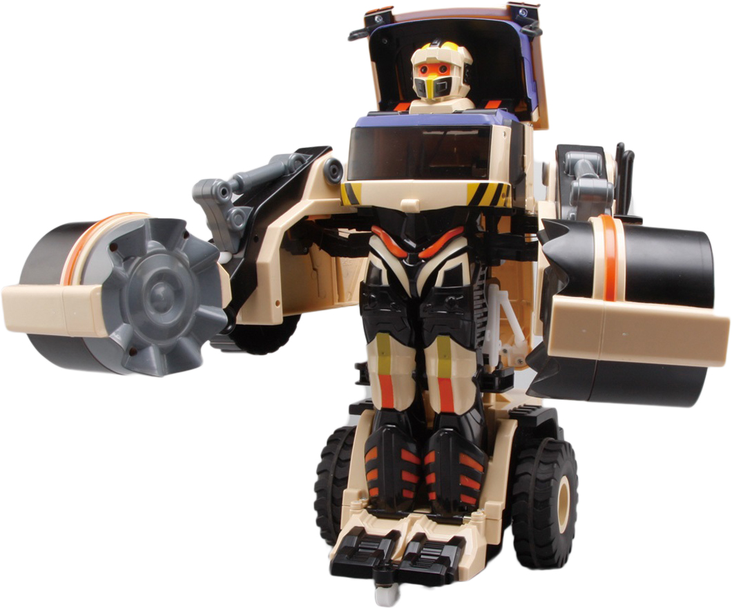 1TOY Робот-трансформер на радиоуправлении Строительный каток
