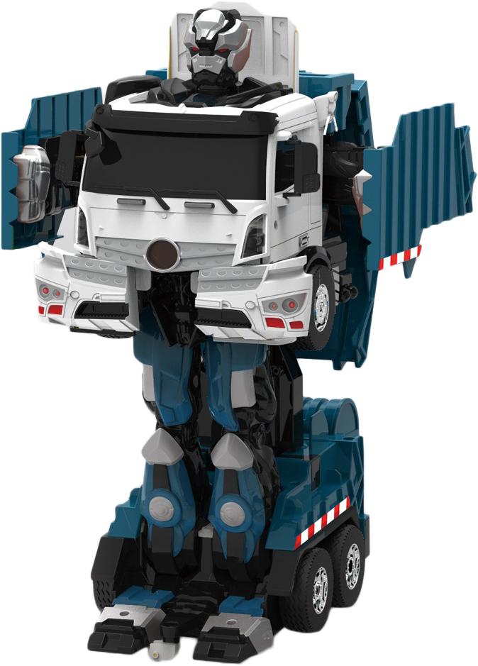 1TOY Робот-трансформер на радиоуправлении Мусоровоз робот на радиоуправлении звездный защитник 26 см