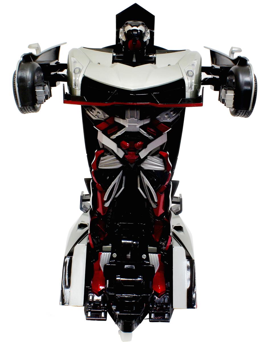 1TOY Робот-трансформер на радиоуправлении Спортивный автомобиль цвет серебристый