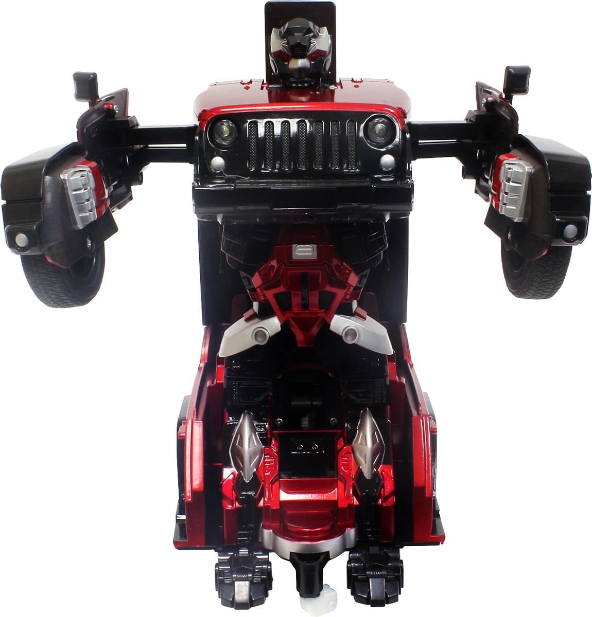 1TOY Робот-трансформер на радиоуправлении Джип цвет красный
