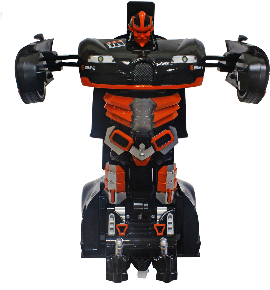 1TOY Робот-трансформер на радиоуправлении Спортивный автомобиль цвет оранжевый