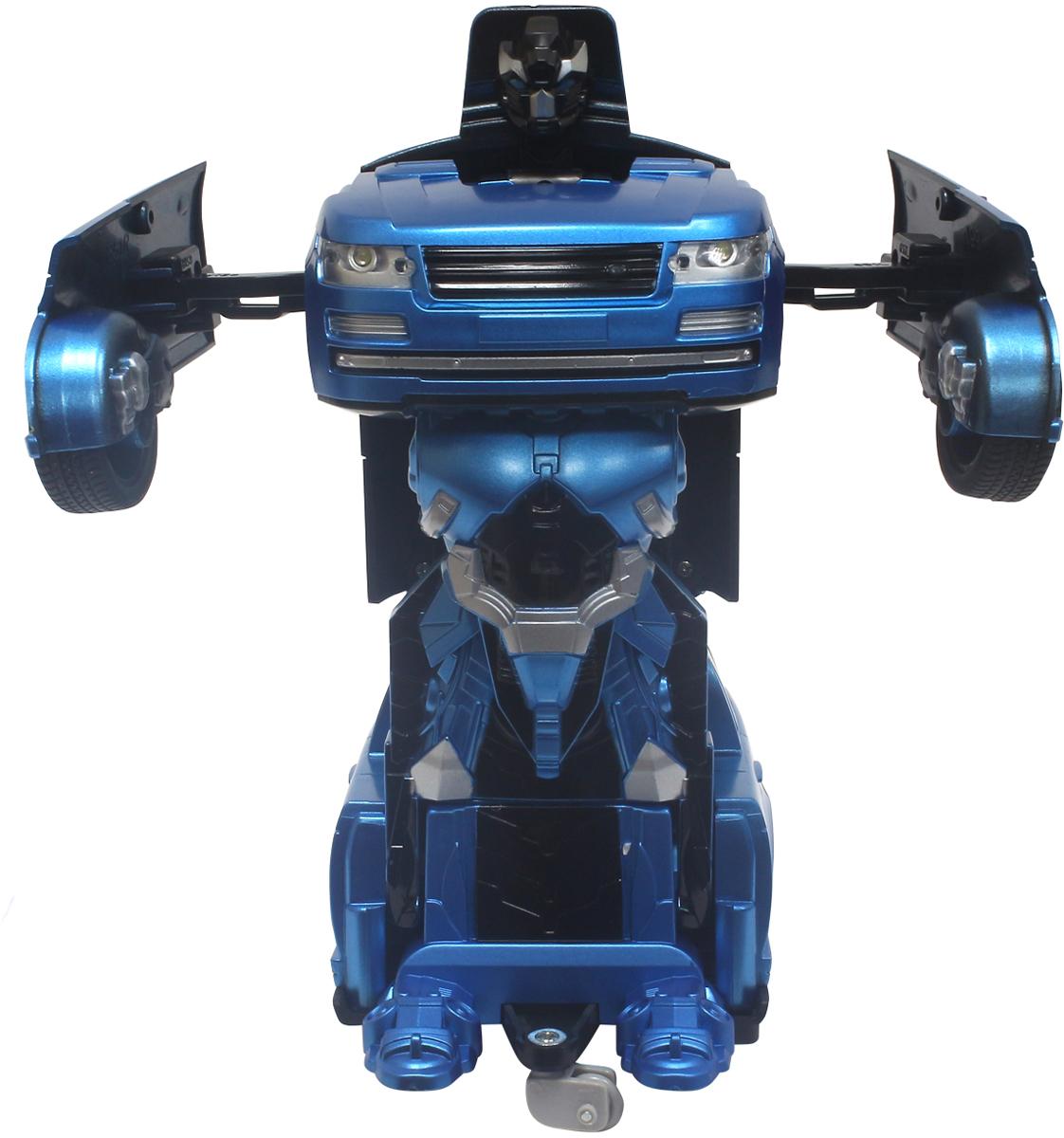 1TOY Робот-трансформер на радиоуправлении Джип цвет синий конструкторы 1toy конструктор формула 1toy гоночный джип 90 деталей