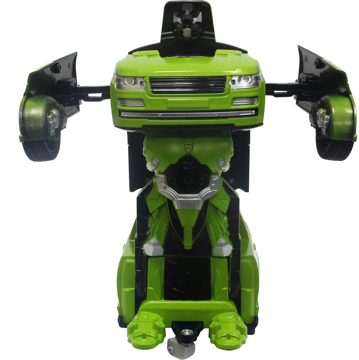 1TOY Робот-трансформер на радиоуправлении Джип цвет зелуный