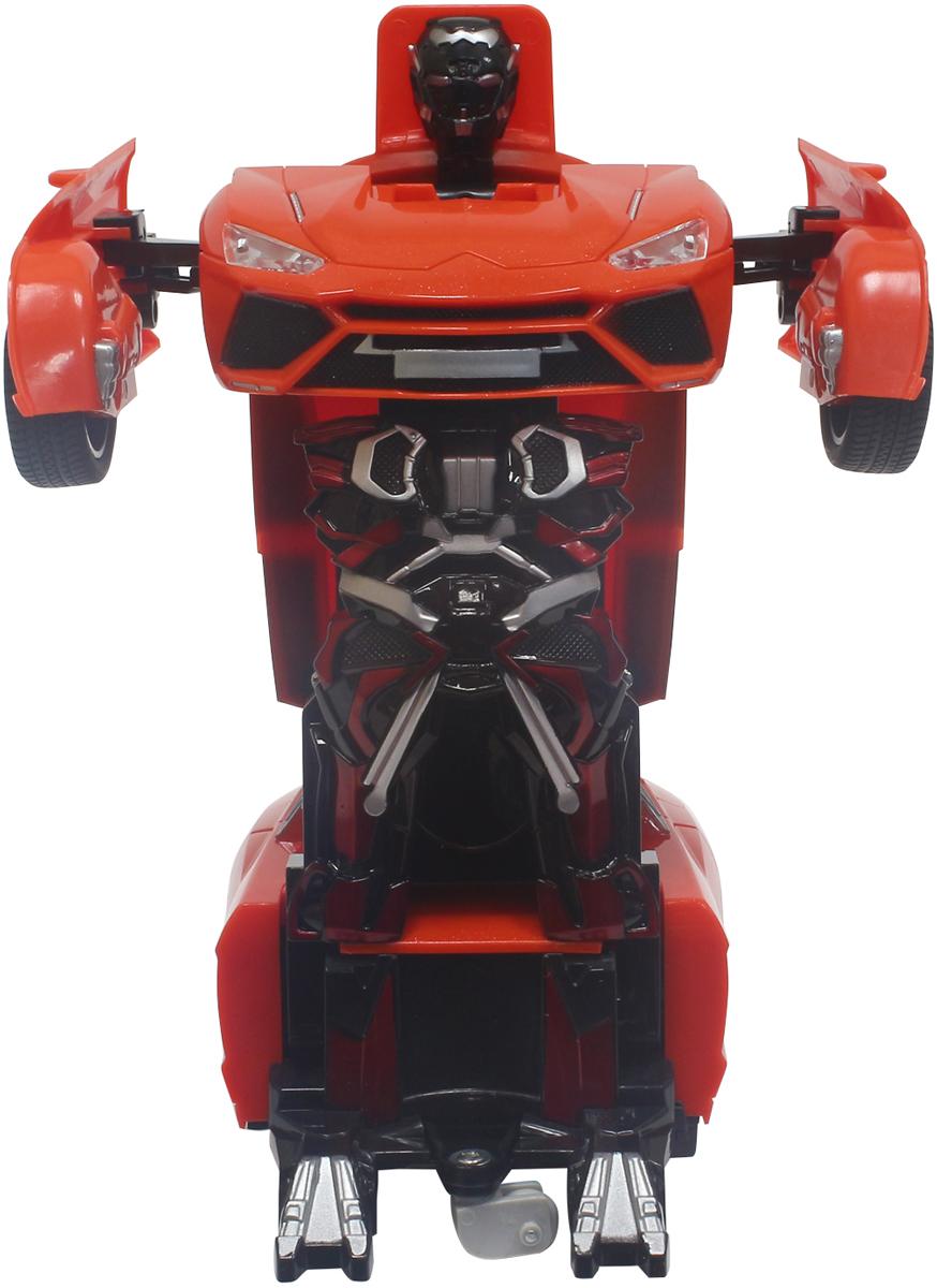 1TOY Робот-трансформер на радиоуправлении Легковая машина цвет красный plastic toy машина на радиоуправлении races цвет красный