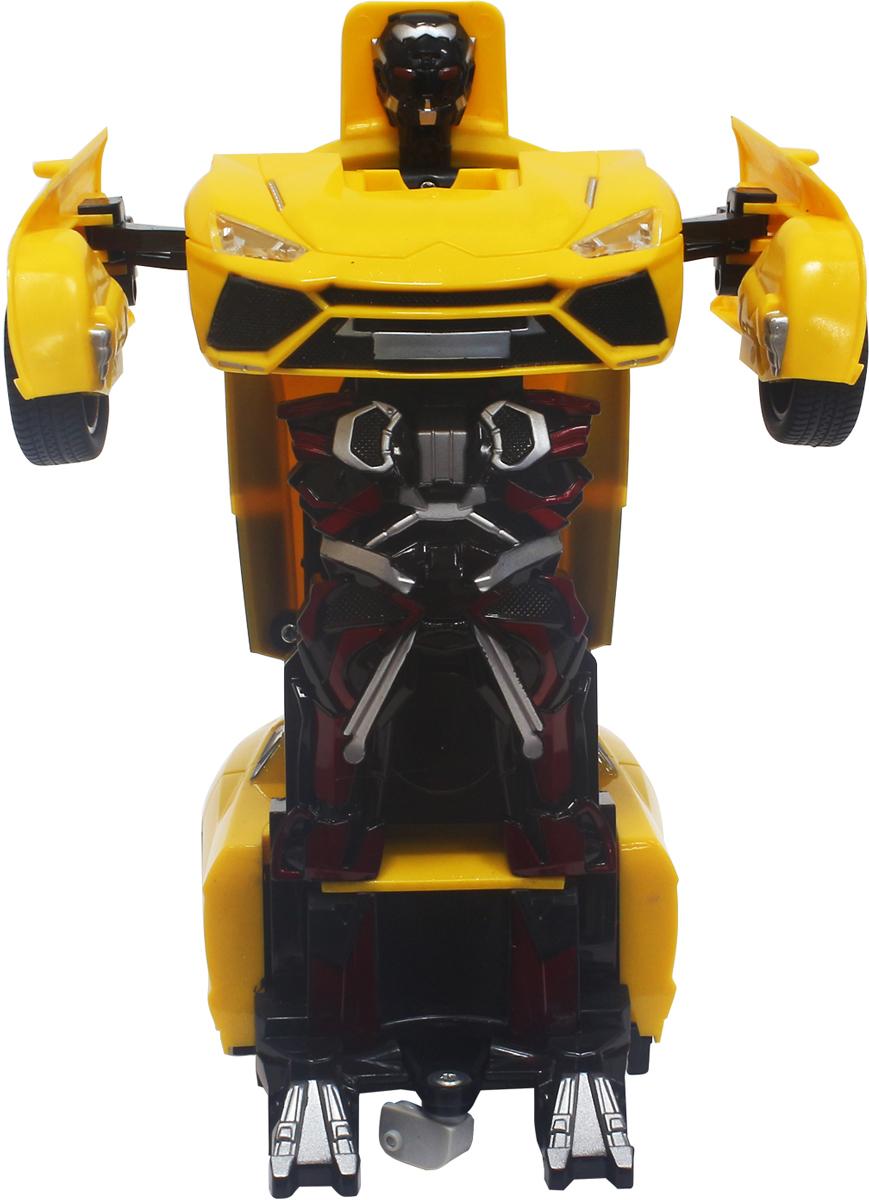 1TOY Робот-трансформер на радиоуправлении Легковая машина цвет желтый