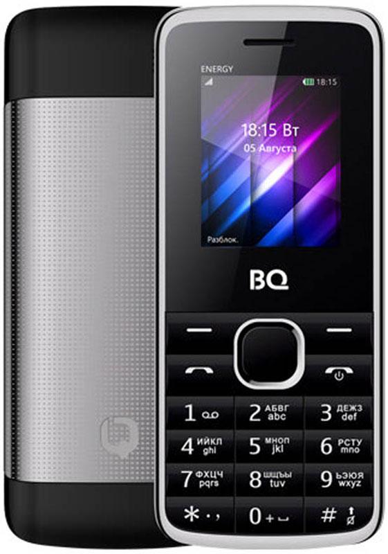 BQ 1840 Energy, Black85953993BQ 1840 Energy - компактный телефон с QQVGA экраном диагональю 1.77 дюйма. Для оперативной передачи необходимых данных используется встроенный Bluetooth модуль. Из остальных функций стоит отметить встроенные FM-радио приемник и виброзвонок. Для удобного разделения рабочих и личных контактов есть возможность использовать одновременно 2 SIM-карты. Долгое время работы обеспечивает энергоемкий аккумулятор мощностью 1500 mAh. Корпус модели сделан из металла, что добавляет модели статусности.Телефон сертифицирован EAC и имеет русифицированную клавиатуру, меню и Руководство пользователя.