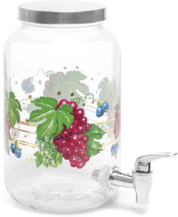 Банка для сыпучих продуктов Attribute Grape, с крышкой и краником, 3,8 л. ABS038ABS038