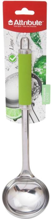 """Половник Attribute Gadget """"Lime"""" выполнен из высококачественного материала. Без этого аксессуара не обойдется ни одна кухня. Половником удобно наливать супы, соусы в тарелку. Имеется петля для навески в удобном для вас месте. Можно мыть в посудомоечной машине."""