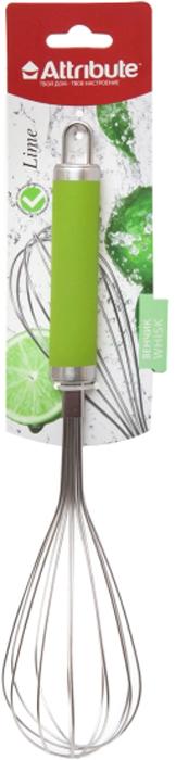 Венчик Attribute Gadget Lime, цвет: салатовыйAGL025Современный венчик Attribute Gadget Lime станет хорошим решением для любой квартиры. Внешний вид венчика разработан учитывая все нюансы. Все элементы внимательно подогнаны и замечательно дополняют друг друга.Венчик Attribute Gadget Lime легко дополнит вашу обстановку. Эта модель будет приятным приобретением или подарком. Изделие произведено из сырья превосходного качества приятных цветов/