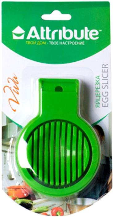 Яйцерезка Attribute Gadget Viva Green, цвет: зеленыйATV719С помощью яйцерезки Attribute Gadget Viva Green, изготовленной из металла и пластика, вы без труда сможете измельчить яйцо. Хорошо натянутая металлическая проволока легко нарезает продукт на кусочки равной толщины. Положите очищенное яйцо, опустите часть с тонкими стальными струнами, и аккуратно разрезанные ломтики готовы для украшения изысканных блюд на фуршете или для салата.