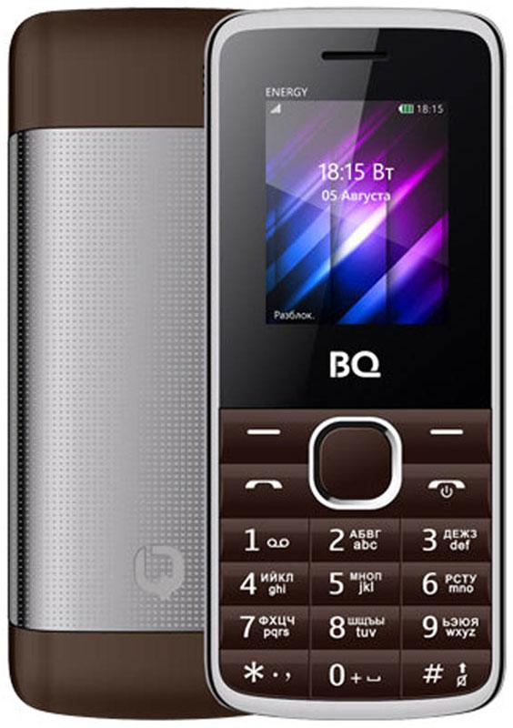 BQ 1840 Energy, Brown85953994BQ 1840 Energy - компактный телефон с QQVGA экраном диагональю 1.77 дюйма. Для оперативной передачи необходимых данных используется встроенный Bluetooth модуль. Из остальных функций стоит отметить встроенные FM-радио приемник и виброзвонок. Для удобного разделения рабочих и личных контактов есть возможность использовать одновременно 2 SIM-карты. Долгое время работы обеспечивает энергоемкий аккумулятор мощностью 1500 mAh. Корпус модели сделан из металла, что добавляет модели статусности.Телефон сертифицирован EAC и имеет русифицированную клавиатуру, меню и Руководство пользователя.
