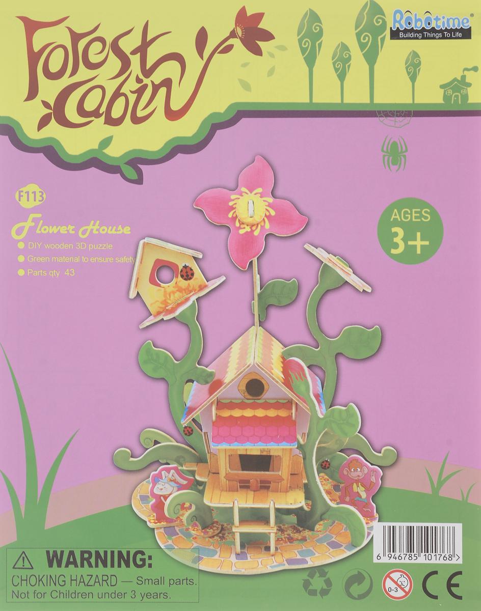 Robotime 3D пазл Цветочный домик