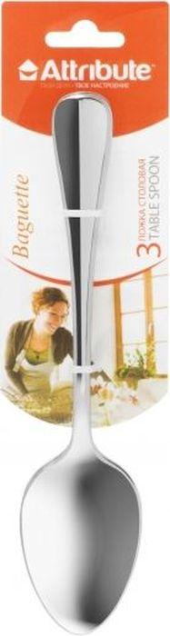 Ложка столовая Attribute Baguette, 3 штACB523Столовые ложки Attribute Baguette безопасны в использовании, просты в уходе, подходят для ежедневного применения и праздничного торжества.