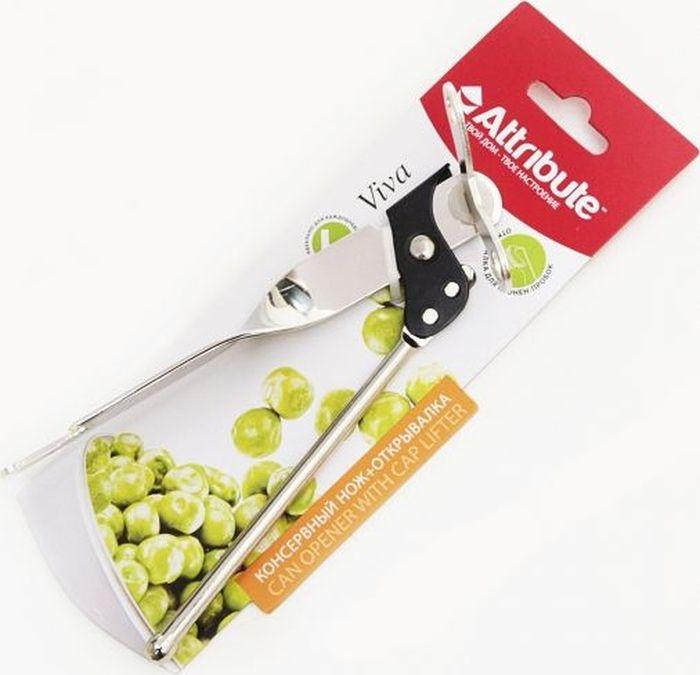 Нож консервный Attribute Gadget Viva Chrome, с открывалкойAGC071Консервный нож с открывалкой Attribute Gadget Viva Chrome выполненный из высококачественной нержавеющей стали, займет достойное место среди аксессуаров на вашей кухне. С помощью этого удобного консервного ножа вы сможете без приложения усилий со своей стороны открыть любую жестяную консервную банку, а с помощью открывалки - банку или бутылку.