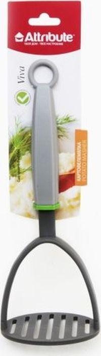 Картофелемялка Attribute Gadget Viva GreyAGV020Картофелемялка выполнена из высококачественного нейлона и полипропилена. Изделие безопасно для посуды с антипригарным и керамическим покрытием. Эргономичная рукоятка обеспечивает надежный хват. Благодаря небольшому ушку на конце ручки картофелемялку можно подвесить в удобном для вас месте на кухне. С картофелемялкой вы сможете измельчить картофель, не прилагая к этому много усилий.