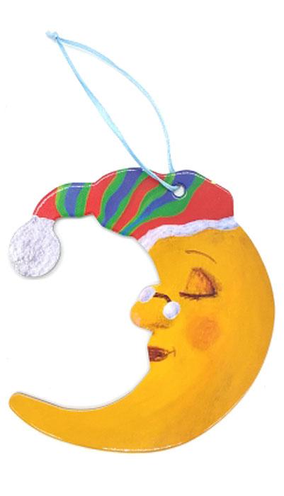 Игрушка-подвеска новогодняя Darinchi Месяц, 12 см175841 BЗамечательная безопасная картонная игрушка на ленточке! Милый сувенир на елочку! Елка, украшенная картонными игрушками, станет эксклюзивным элементом декора вашего дома и подарит вам и вашим близким незабываемый Новый Год.