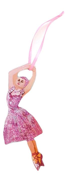 Игрушка-подвеска новогодняя DarinchiБалерина, 12 смTOYNY 18Замечательная безопасная картонная игрушка на ленточке! Милый сувенир на елочку! Елка, украшенная картонными игрушками, станет эксклюзивным элементом декора вашего дома и подарит вам и вашим близким незабываемый Новый Год.
