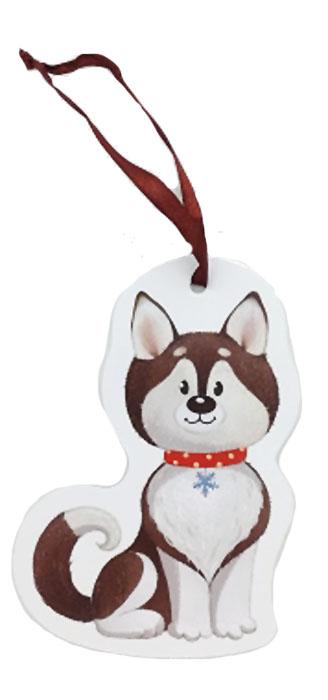 Игрушка картонная новогодняя № 21 «Собачка»TOYNY 21Замечательная безопасная картонная игрушка на ленточке! Милый сувенир на елочку)
