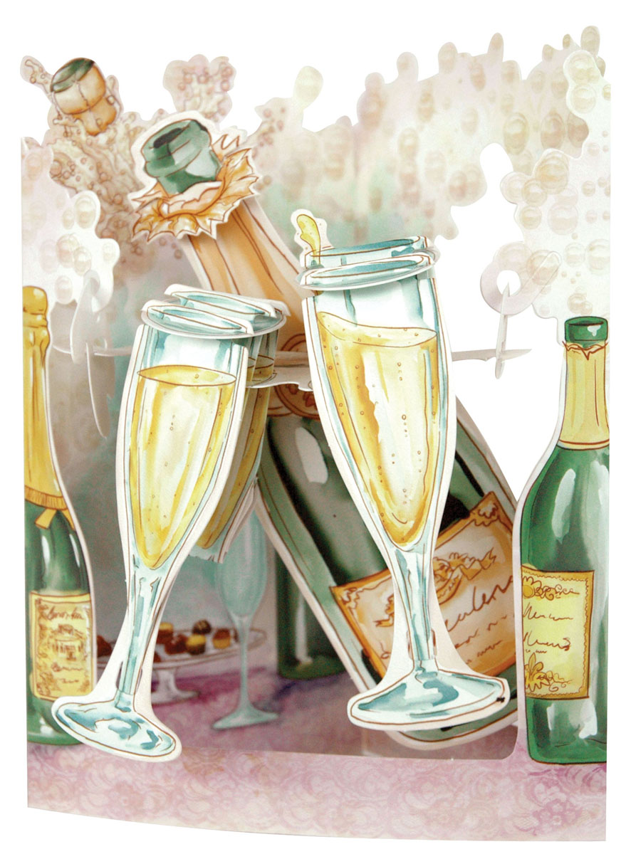 Объемная открытка Santoro Шампанское платье befree befree be031ewylt69