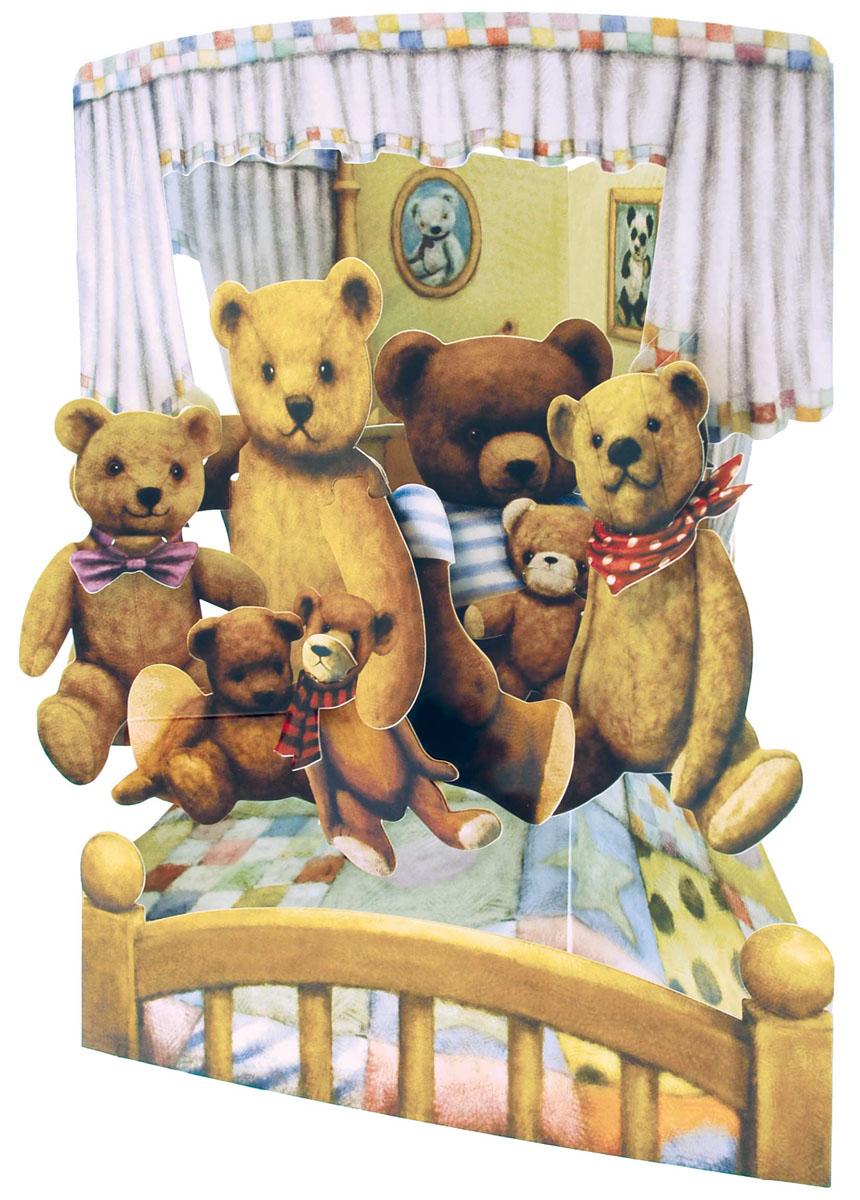 Объемная открытка Santoro МедвежатаSC 144Коллекция объемных английских 3Д открыток