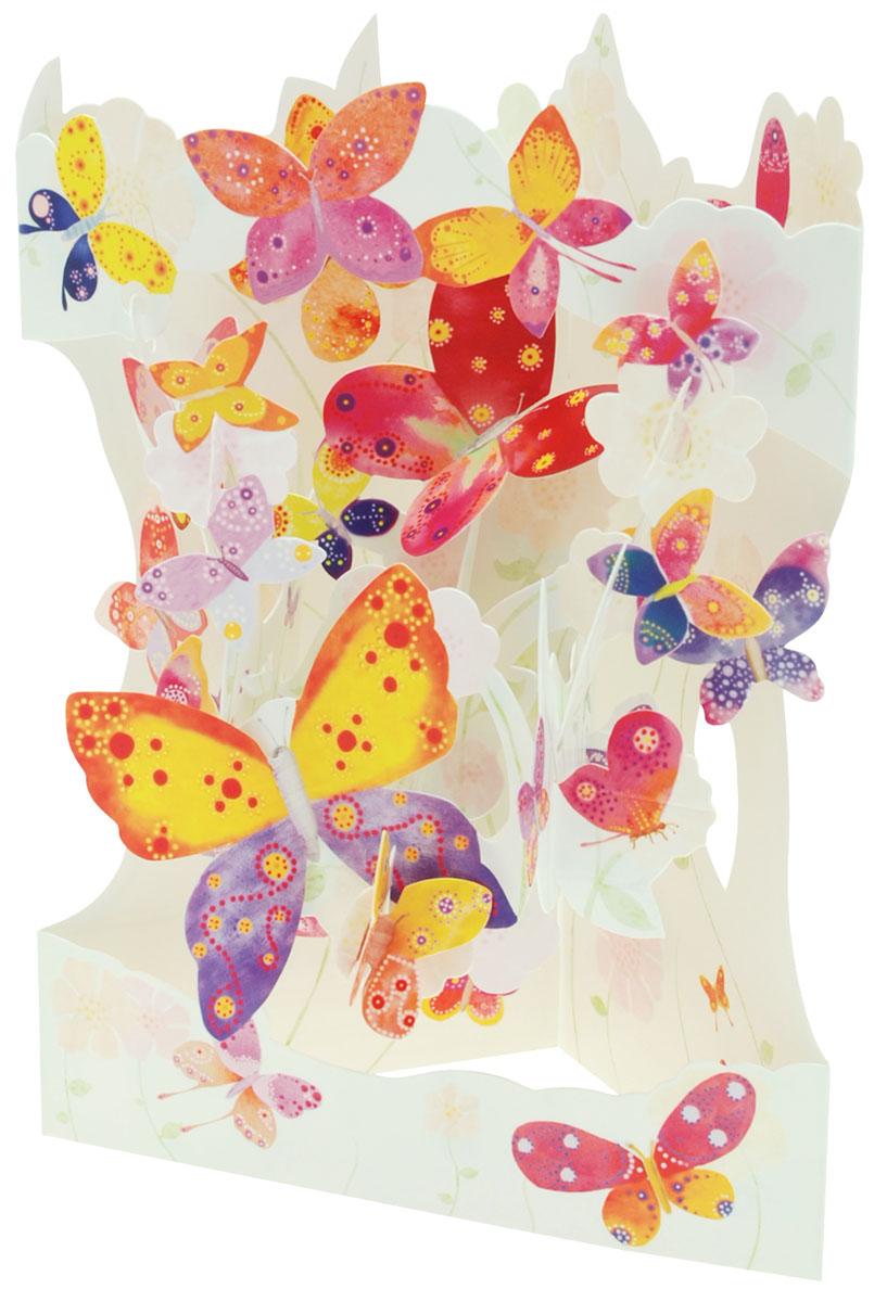 Объемная открытка Santoro БабочкиSC 162Коллекция объемных английских 3Д открыток