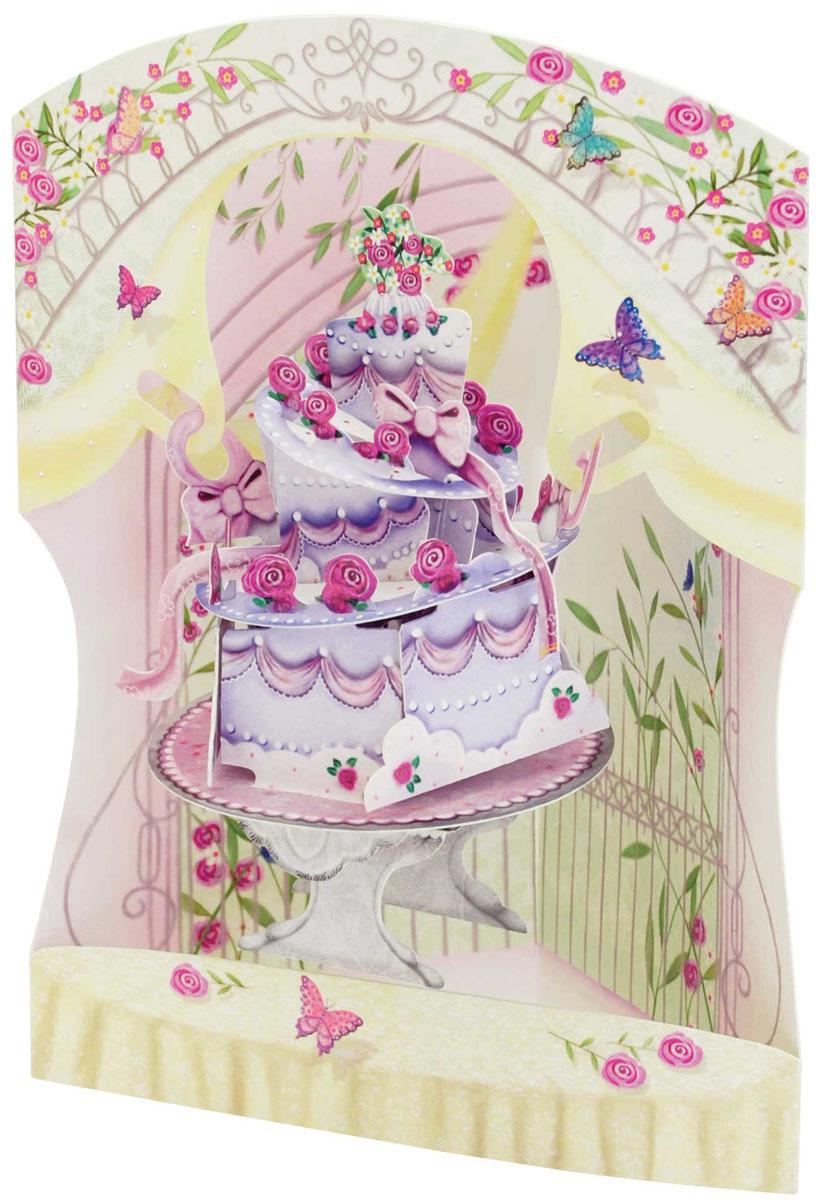 Объемная открытка Santoro Свадебный тортSC 164Коллекция объемных английских 3Д открыток