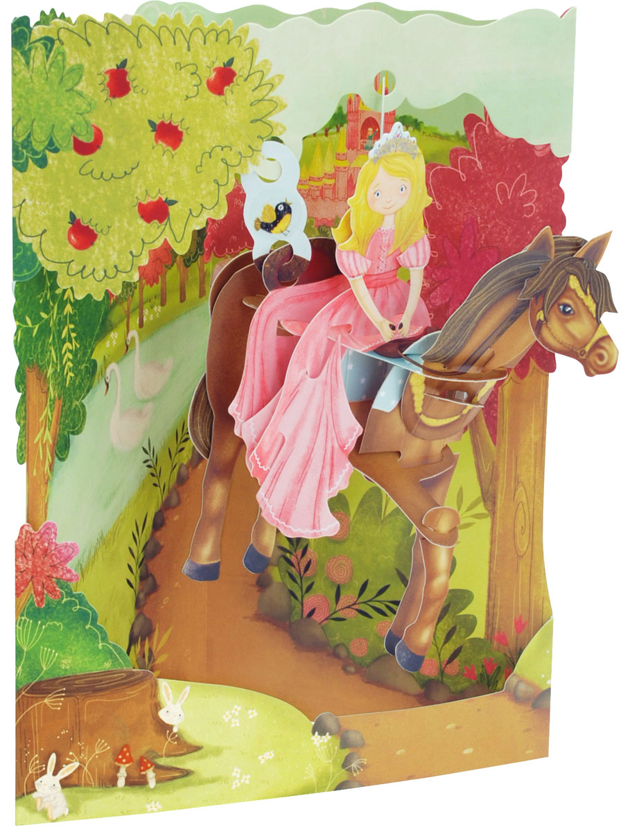 Объемная открытка Santoro ПринцессаSC 170Коллекция объемных английских 3Д открыток