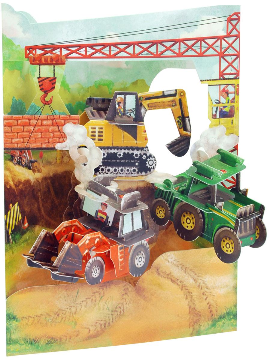 Объемная открытка Santoro СтройкаSC 171Коллекция объемных английских 3Д открыток