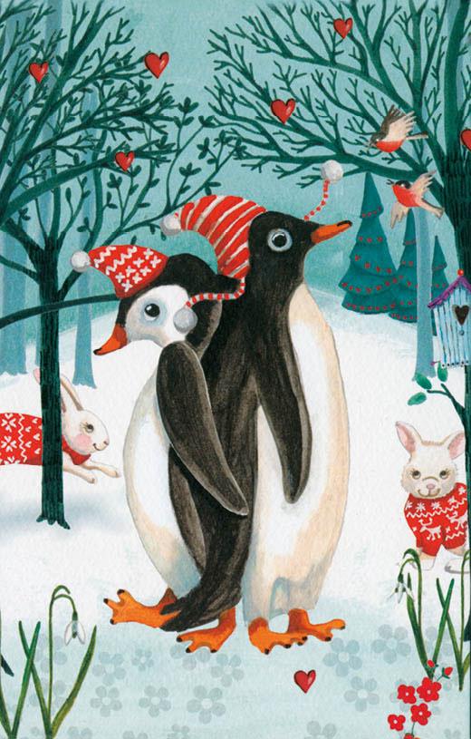 Винтажная открытка Даринчи С Новым годом! №413, цвет: черный, красный, синий, белый открытка конверт с новым годом студия тётя роза онг 0008