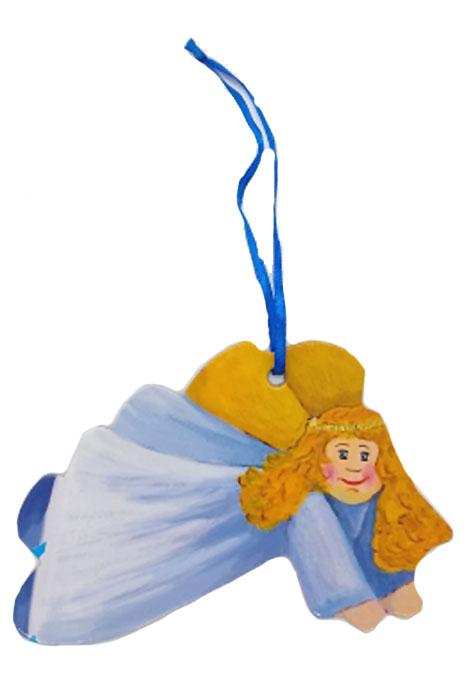 Игрушка картонная новогодняя № 16 «Ангел»TOYNY 16Замечательная безопасная картонная игрушка на ленточке! Милый сувенир на елочку)