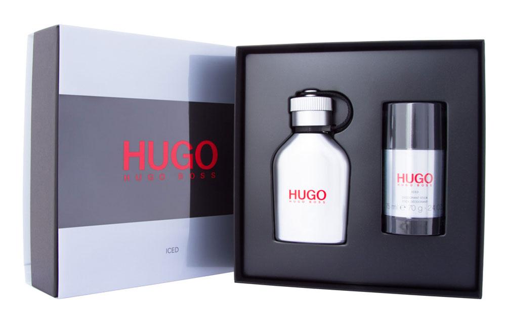 Hugo Boss Парфюмерный набор Hugo Iced: туалетная вода 75 мл, деостик 75 мл8005610460352Hugo Iced – новый аромат, заряжающий энергией. Для тех, кто не боится следовать за своей мечтой. Он идеально передает смелый и дерзкий характер HUGO, а металлический леденящий флакон в форме фляги отражает бодрящие и свежие нотки композиции. Верхняя нота ледяной мяты пробуждает и дарит энергию на весь день. В сердце аромата звучат придающие уверенность ноты чайного дерева в сочетании с можжевельником и горьким апельсином. Ветивер в базовых нотах делает аромат мужественным и насыщенным, наполняет решительностью и поднимает настроение.