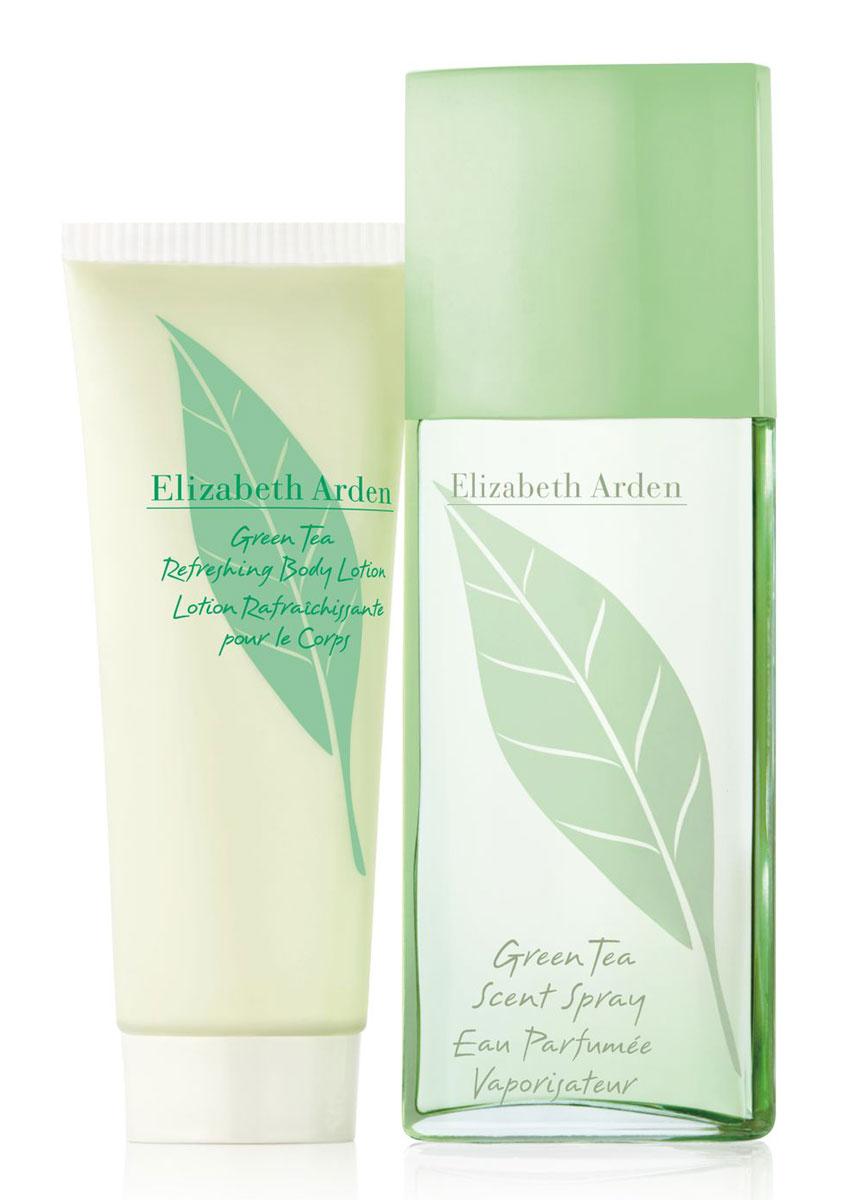 Elizabeth Arden Парфюмерный набор Green Tea: парфюмерная вода, лосьон для тела, 2 x 100 млA0101880Линейка Green Tea от Elizabeth Arden поражает своей легкостью, изысканностью, нежностью и шиком. Она прекрасно подойдет как для ежедневных прогулок или работы, так и для искристого светского вечера. Green Tea когда-то был назван эликсиром молодости , потому что дарит своей обладательнице заряд новых сил и энергии. Раскрываясь постепенно, аромат весь день наполняет нежностью и прохладой, каждый раз звуча совершенно по-новому. В наборе представлены аромат Green Tea (100 мл) и Лосьон для тела Green Tea (100 мл).