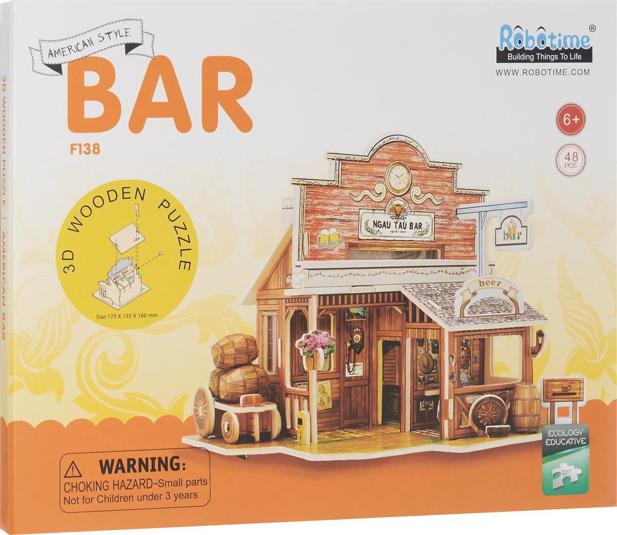 Robotime 3D Пазл Американский бар