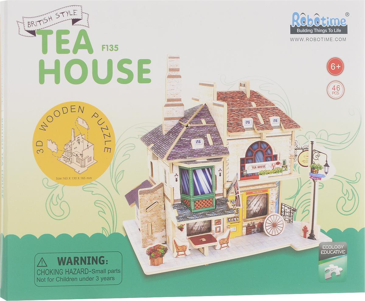 Robotime 3D Пазл Британский чайный дом