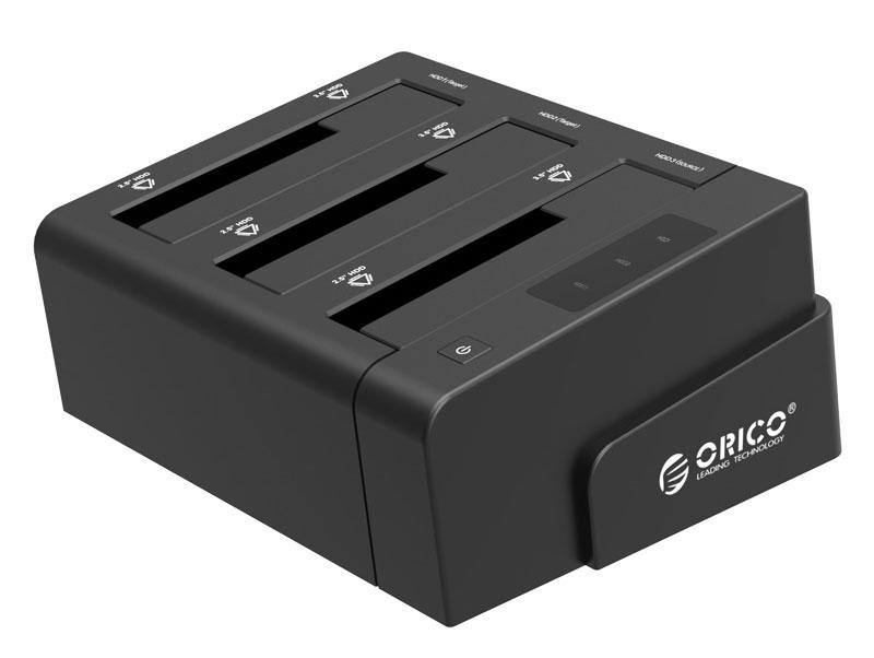 Orico 6638US3-C, Black док-станция для HDDORICO 6638US3-C-BKOrico 6638US3-C поддерживает жёсткие диски до 24 Тбайт. Такого объёма хватит для хранения любых файлов: фотографий, музыки, видеозаписей и других резервных копий.Благодаря протоколу UASP, ORICO 6628US3-C работает на 20% быстрее, при копировании больших массивов данных и меньше нагружает процессор ПК.Док-станция сможет самостоятельно клонировать (сделать полную копию) одного из своих накопителей на другой диск, без подключения к ПК или ноутбуку.Для подключения жёстких дисков не потребуются инструменты, а сам процесс занимает не более трёх секунд. Orico 6638US3-C сможет защитить накопитель от короткого замыкания, повышенного напряжения и силы тока, а также от других угроз.