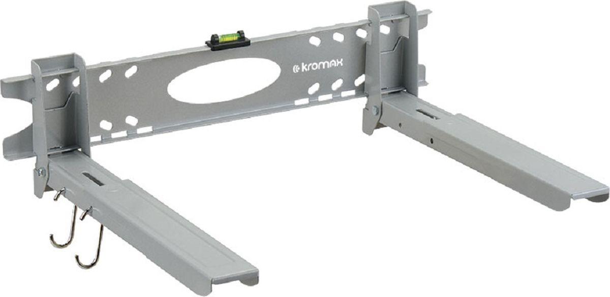 Kromax 5-Micro, Silver кронштейн для СВЧ-печейMICRO-5 silverКронштейн Kromax 5-MICRO silver , для СВЧ-печей вылет от стены (мм) 320-520, нагрузка (кг) 60, регулировка: фиксированный. Легкий монтаж при помощи водяного уровня, безопасная фиксация СВЧ-печи на кронштейны, надежная стальная конструкция способна выдерживать нагрузку до 60 кг, регулируемые опоры по длине и ширине , дополнительные крючки для кухонных принадлежностей.