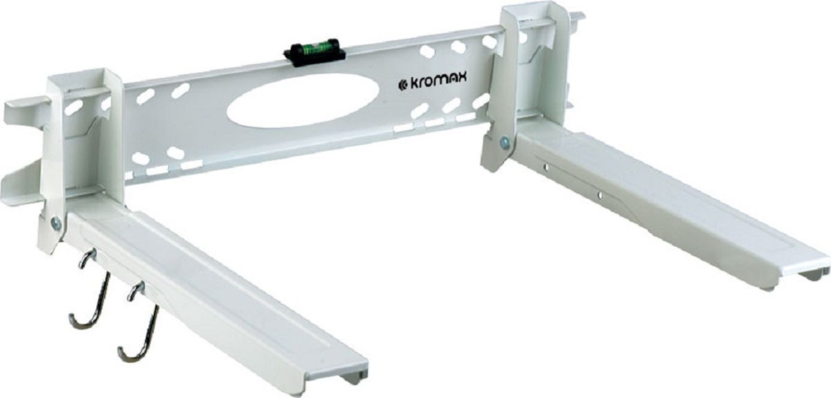 Kromax 5-Micro, White кронштейн для СВЧ-печейMICRO-5 whiteКронштейн Kromax 5-MICRO white для СВЧ-печей. Вылет от стены (мм) 320-520, нагрузка (кг) 60, регулировка: фиксированный. Легкий монтаж при помощи водяного уровня, безопасная фиксация СВЧ-печи на кронштейны, надежная стальная конструкция способна выдерживать нагрузку до 60 кг, регулируемые опоры по длине и ширине , дополнительные крючки для кухонных принадлежностей.