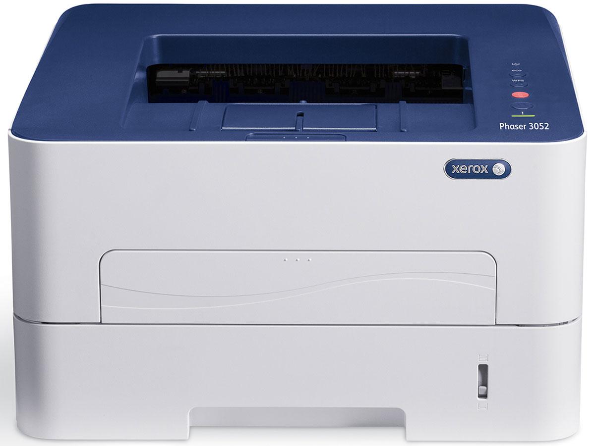 Xerox Phaser 3052NI принтер3052V_NIМонохромный лазерный принтер Xerox Phaser 3052NI – предназначен для малых рабочих групп. Компактное устройство, отличающееся производительностью, бесшумностью работы и высокой надежностью позволит выполнять повседневные задачи. За счет высокой скорости печати 26 стр./мин, быстрого вывода первой страницы (от 8,5 секунд), мощному процессору (600 MHz) и увеличенному объему памяти (256 Мб), вы делаете работу быстрее, уделяя больше внимания основным обязанностям. Объем лотков для бумаги в 250 листов, позволит вам реже тратить время на пополнение запасов бумаги в устройстве, а двойная упаковка картриджей (2 х 3000 стр) позволит печатать еще больше! Модель также оснащена такими интерфейсами, как Ethernet, Wi-Fi и USB, поэтому к ним могут легко подключаться как отдельные пользователи, так и рабочая группа. Печать документов с портативных устройств Apple и Android, благодаря встроенной поддержке технологии Apple AirPrint и Xerox PrintBack, позволит пользователям распечатывать электронные письма или важные документы непосредственно с мобильного устройства, а также отправлять документы на печать, где бы они не находились.Струйный или лазерный принтер: какой лучше? Статья OZON Гид