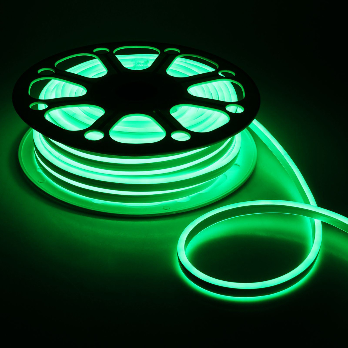 Гирлянда светодиодная Luazon, 120 ламп, 220 V, цвет: зеленый, 0,8 см х 1,8 см х 25 м. 14312801431280Светодиодные гирлянды, ленты и т.д — это отличный вариант для новогоднего оформления интерьера или фасада. С их помощью помещение любого размера можно превратить в праздничный зал, а внешние элементы зданий, украшенные ими, мгновенно станут напоминать очертания сказочного дворца. Такие украшения создают ауру предвкушения чуда. Деревья, фасады, витрины, окна и арки будто специально созданы, чтобы вы украсили их светящимися нитями.