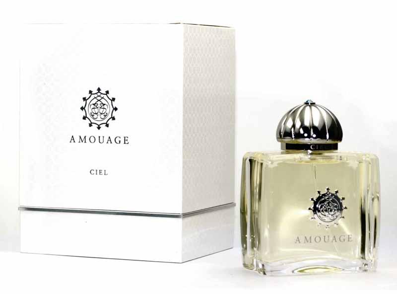 Amouage Ciel lady парфюмерная вода, 50 мл943322Верхние ноты: цикламен, гардения, лист фиалки; Средние ноты: цветок персика, жасмин, водяная лилия, роза: Базовые ноты: сандал, амбра, мускус, ладан, кедр